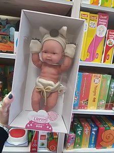 Csecsemő baba Llorens baba