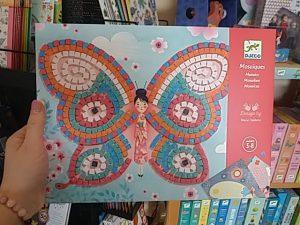 Pillangós mozaik kép lészítő, állatos játék